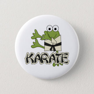 Frog Karate Tshirts and Gifts 6 Cm Round Badge