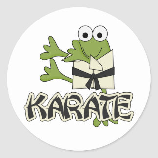 Frog Karate Tshirts and Gifts Round Sticker