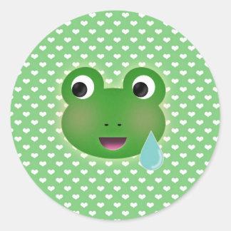 Frog Kawaii Classic Round Sticker