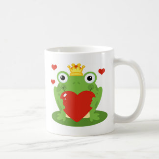 Frog King with Heart Coffee Mug