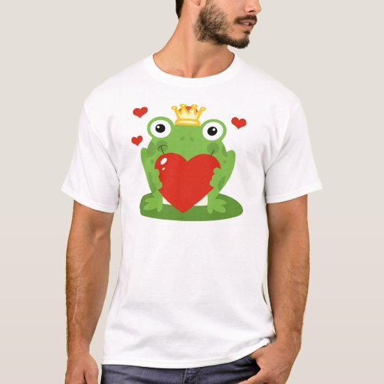 Frog King with Heart T-Shirt