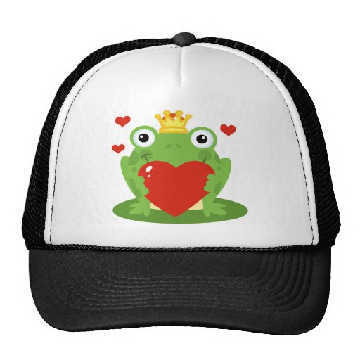 Frog King with Heart Trucker Hat