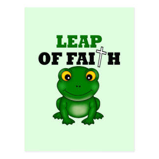 Frog Leap Of Faith Post Card