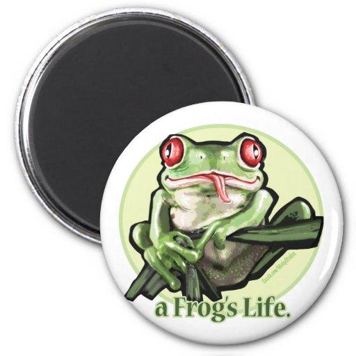 frog_life_zazzle1 fridge magnets