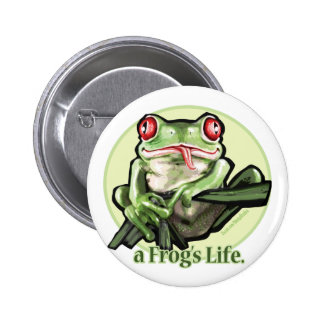 frog_life_zazzle1 pinback button