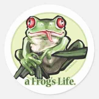 frog_life_zazzle1 round stickers