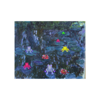 Frog Lily Pad Monet Canvas Print
