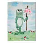 Frog Line Card I'm Sorry Please Forgive Me