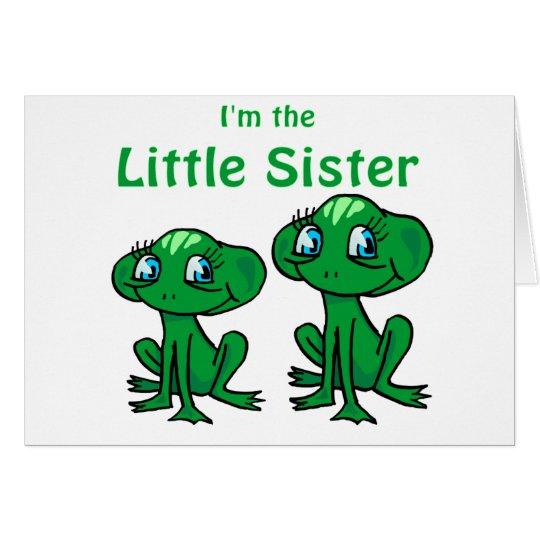 frog little sister card