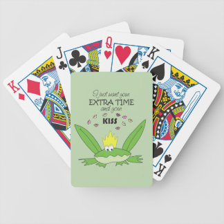 Frog Love Kiss Prince Song Words Funny Green Cute Bicycle Playing Cards