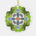 Frog Mandala Christmas Ornaments