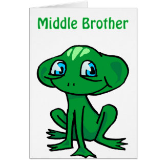 frog middle brother greeting cards