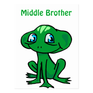 frog middle brother postcard