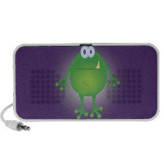 Frog Monster on Purple Background Speaker