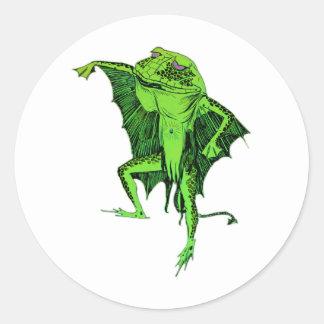 Frog Monster Round Sticker