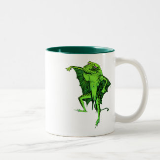 Frog Monster Two-Tone Coffee Mug