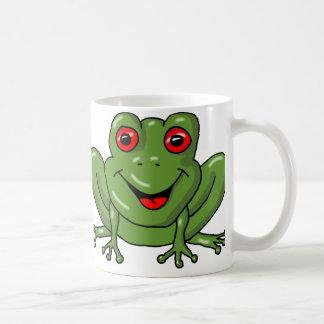 frog basic white mug