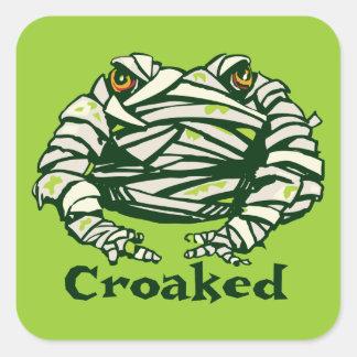 Frog Mummy Square Sticker