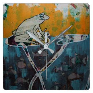Frog Music Clock