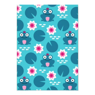 Frog & Nenuphar Seamless Pattern Card