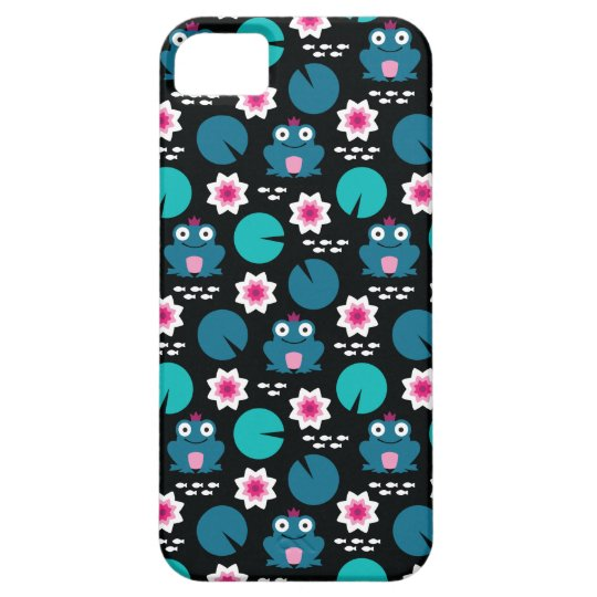 Frog & Nenuphar Seamless Pattern Case For The