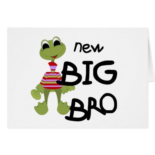 Frog New Big Bro Tshirts and Gifts Greeting Cards