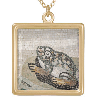 Frog, Nile mosaic, from the House of the Faun Gold Plated Necklace