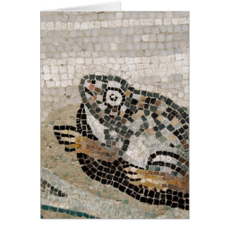 Frog, Nile mosaic, from the House of the Faun Greeting Card