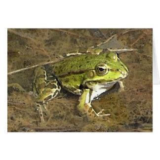 frog notecard greeting card