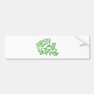 Frog of Peace Bumper Sticker