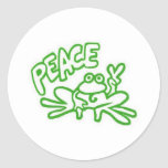 Frog of Peace Round Sticker