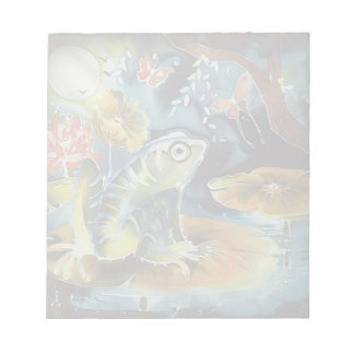Frog on a Lily Pad in the Moonlight Art Painting
