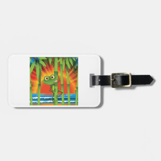Frog On Bamboo Luggage Tags