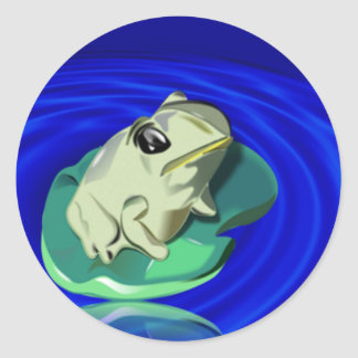 Frog on Lily Pad Stickers