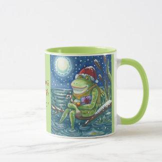 Frog On Log CHRISTMAS MUG