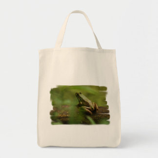 Frog on Log Grocery Tote Grocery Tote Bag