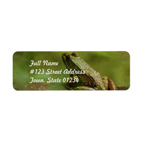 Frog on Log Mailing Labels