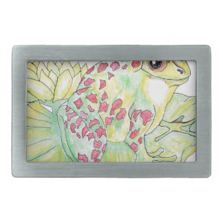 Frog on Lotus leaf Belt Buckle