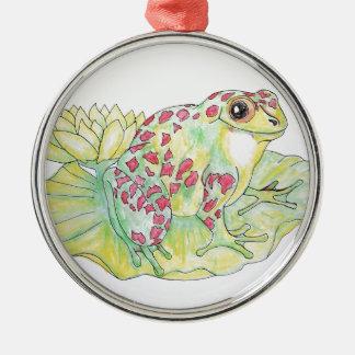 Frog on Lotus leaf Christmas Ornament