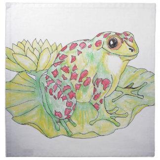 Frog on Lotus leaf Napkin