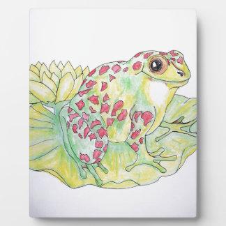 Frog on Lotus leaf Plaque
