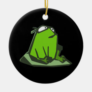 Frog on Rock Ornament