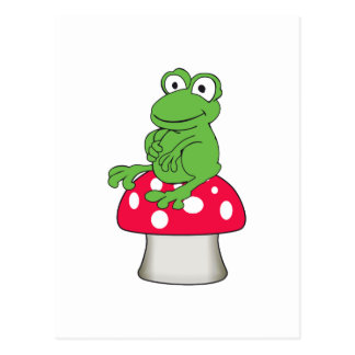 FROG ON TOADSTOOL POSTCARD