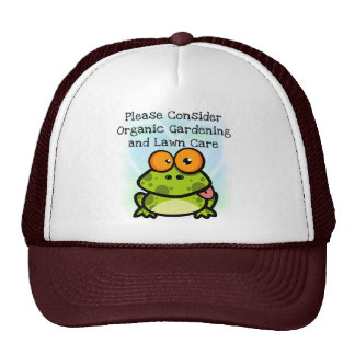 Frog Organic Gardening T-shirts and Gifts Hats