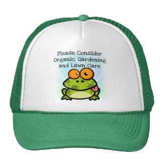 Frog Organic Gardening T-shirts and Gifts Mesh Hat