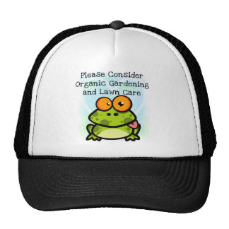 Frog Organic Gardening T-shirts and Gifts Mesh Hats