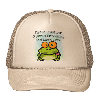 Frog Organic Gardening T-shirts and Gifts Trucker Hat