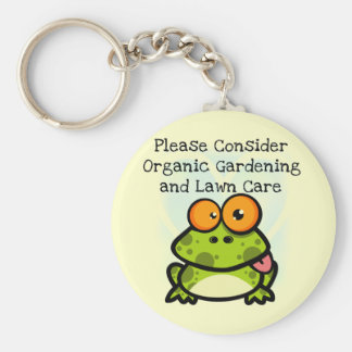 Frog Organic Gardening T-shirts and Gifts Keychain