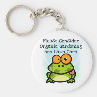 Frog Organic Gardening T-shirts and Gifts Keychains