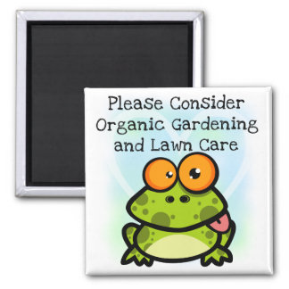 Frog Organic Gardening T-shirts and Gifts Magnets
